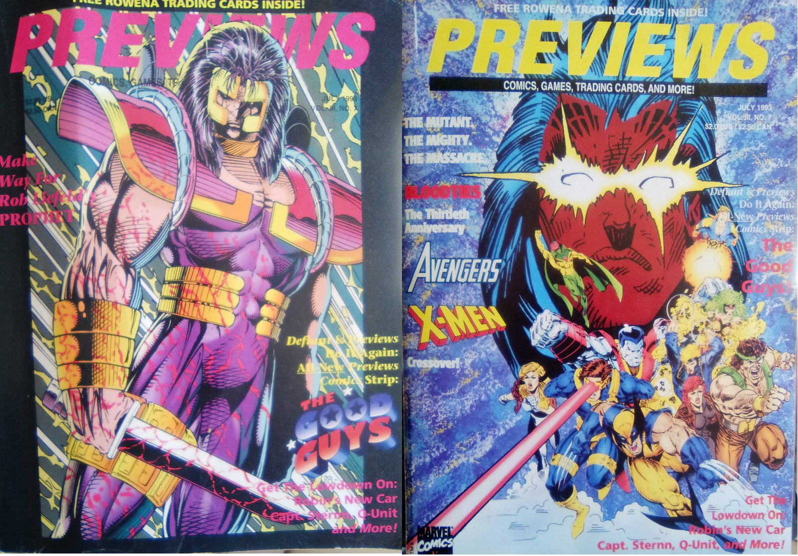 Previews Julio de 1993: superhéroes, pistolones y…. Magic