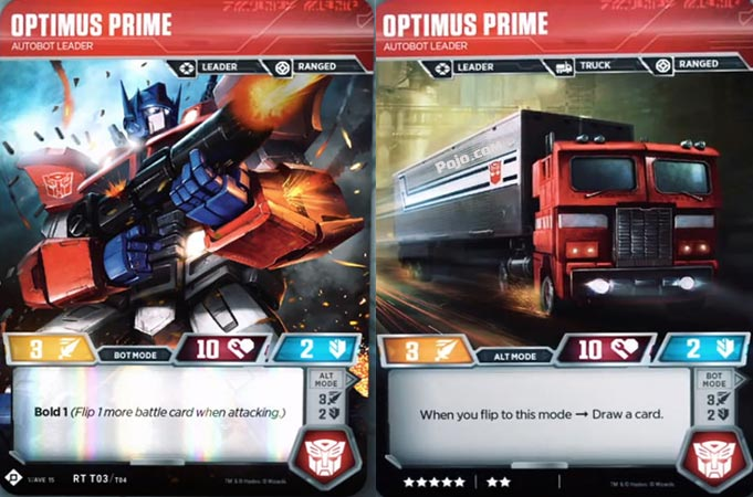 Transformers: el juego de cartas para volver a arruinarme